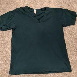 American apparel dark green t-shirt